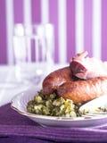 Kale με το λουκάνικο Στοκ φωτογραφία με δικαίωμα ελεύθερης χρήσης