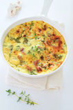 Kale and bacon frittata Stock Photos