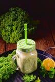 Kale banana smoothie Stock Photography