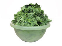 Kale in Bowl Stock Photography