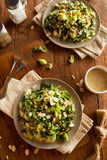 Kale and Brussel Sprout Salad. With Almons and Lemon Dressing stock photography