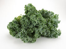 Kale. Bunch isolated on white stock photos