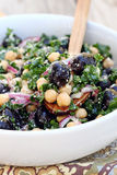 Kale, Chickpea and Olive Salad Royalty Free Stock Photography