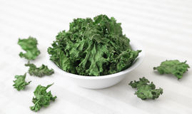 Kale Chips Stock Photography