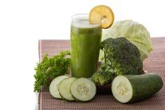 Kale, cucumber,  and broccoli juice Stock Image