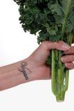 Kale e suco Imagens de Stock Royalty Free