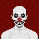 Kale enge Clown met het glimlachen Gezicht vector illustratie