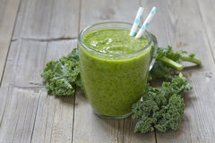 Kale green smoothie Stock Images