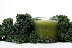 Kale and juice Stock Photos
