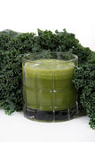 Kale and juice Stock Images