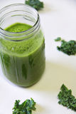 Kale Juice vertical Royalty Free Stock Photos