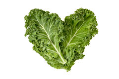 Kale leaves forming a heart stock photo