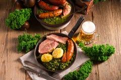 Kale ou couve galega Imagem de Stock Royalty Free
