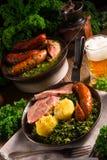 Kale ou couve galega Fotos de Stock Royalty Free