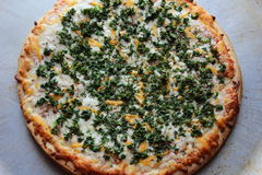 Kale pizza fotografia royalty free