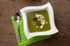 Kale-Potato Soup with Almond Royalty Free Stock Image