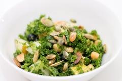 Kale Salad In White Bowl On White Royalty Free Stock Image