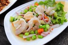 Kale salad with shrimp Royalty Free Stock Image