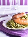 Kale with sausage Stock Photo