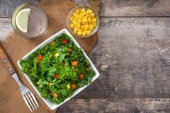 Kale składniki i sałatka zdjęcia royalty free