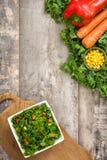 Kale składniki i sałatka obraz stock