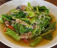 Kale smażący warzywo, Tajlandzki jedzenie Obraz Stock