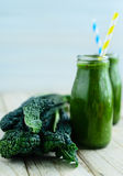 Kale smoothie. Cool summer drink royalty free stock image