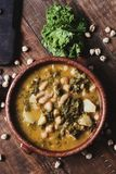 Kale stew with potatoes and chickpeas Stock Image