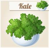 Kale w pucharze Szczegółowa Wektorowa ikona royalty ilustracja