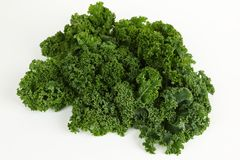 Kale with white background. Green kale with white background Stock Images