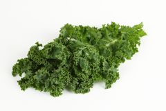 Kale with white background. Green kale with white background Stock Photography