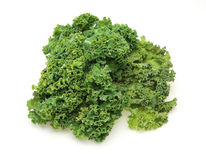 Kale in a white background Royalty Free Stock Images