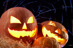 kalebasser halloween Arkivbilder