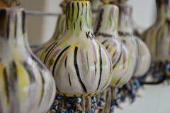 Kalebasser som används i garnering- och konstfält royaltyfri fotografi