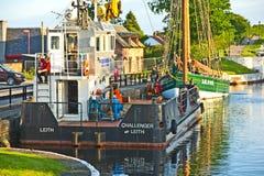 Kaledonischer Kanal in Inverness. Stockbilder