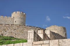 Skopje fästningKale - södra väggar fotografering för bildbyråer