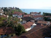 Kaleiçi是安塔利亚,土耳其的历史的市中心 库存图片