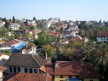 Kaleiçi är det historiska centret av Antalya, Turkiet arkivbilder