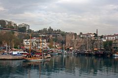 Kaleici, Antalya old town harbor. Royalty Free Stock Images