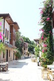 Kaleici street with flowers Royalty Free Stock Photo
