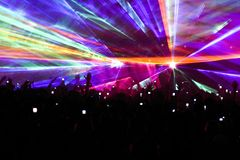 Kaleidescope laser light show royalty free stock image