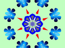 Kaleidescope Ring der Blumen Lizenzfreies Stockbild