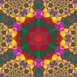 Kaleidoscop fractal rainbow tile with arabic motives. Fractal rainbow tile with arabic motives Stock Photography