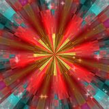 Kaleidoscop texture light. Red and blue, green stock illustration