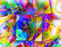 Kaleidoscope. The chaotic colorful linear texture Stock Image