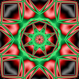 Kaleidoscope. Red, green and black kaleidoscope, perfect for christmas or kwanzaa Royalty Free Stock Photo