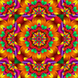 Kaleidoscope. Pretty fractal kaleidoscope in festive party colors Stock Image
