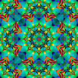 Kaleidoscope. Pretty fractal kaleidoscope in festive party colors Stock Photo