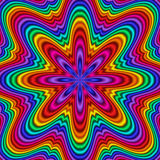 Kaleidoscope. Abstract fractal kaleidoscope in rainbow colors Stock Images