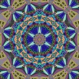 Kaleidoscope abstract digital art with blue colors. Kaleidoscope abstract digital art blue colors royalty free illustration